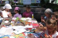 Детская площадка при Еврейском культурном центре Кедем