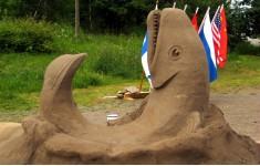 Международный фестиваль песчаных скульптур в Финляндии